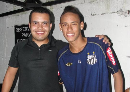 Entrevista com Neymar e Ganso no Santos