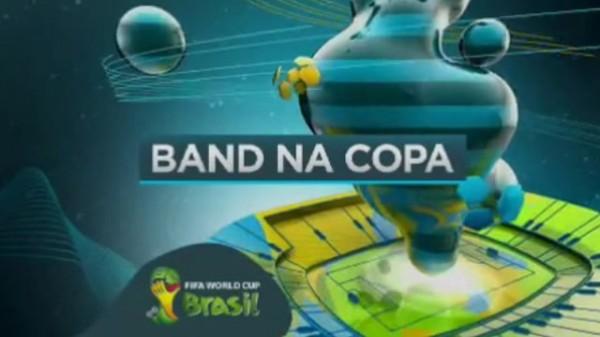 Copa do Mundo na Band com narração, texto e edição